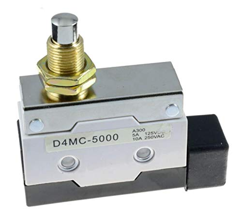 Kfdzsw Micro Interruptor Push Button Final de Carrera de émbolo Micro SPDT 250VAC 10A D4MC-5000