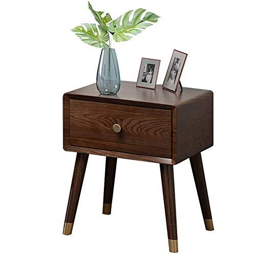 Soul hill nachtkastje nachtkastje met stof opberglade tafel voor slaapkamer studie voor thuis, kantoor, DORM (kleur: bruin, maat: een maat)