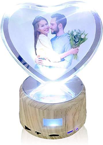 JRPT Plataforma Rotatoria Luz nocturna, con luz led,Base giratoria eléctrica regalo de San Valentín, para exhibición en la tienda