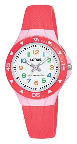 Lorus Mädchen Analog Quarz Uhr mit Silikon Armband R2355MX9