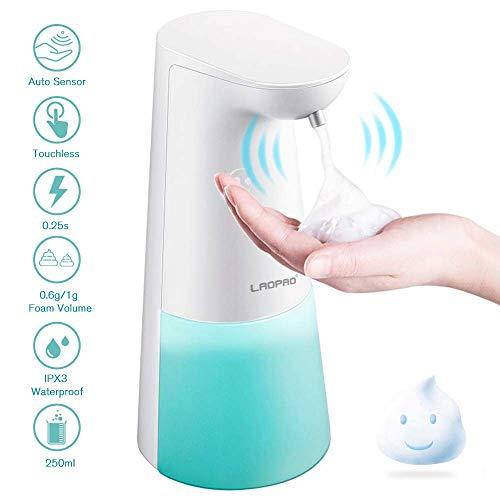 LAOPAO Seifenspender Automatisch, Seifenspender mit Sensor Infrarot 250ml für Bad & Küche