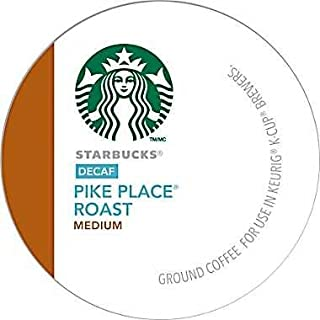 12 Count- Starbucks Decaf Pike Place Roast Coffee K-Cups For Keurig K Cup Brewer