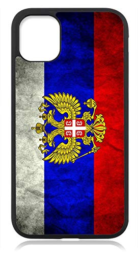 Kompatibel mit iPhone 12 Hülle Silikon, Handyhülle für iPhone 12 / iPhone 12 Pro Schutzhülle Slim Case Cover Russland Fahne Flagge