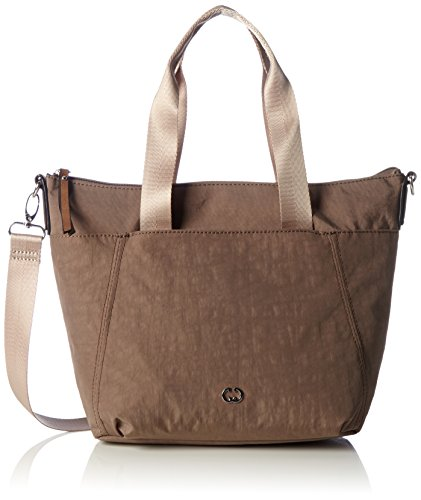 Gerry Weber Damen Sunshine Handbag Mhz Schultertasche, Grau (Taupe), 12x37x25,5 cm