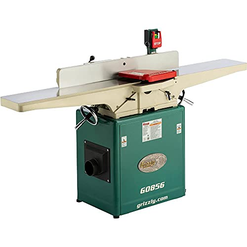 """Grizzly Industrial G0856-8"""" x 72"""" Jointer with Helical Cutterhead & Mobile Base"""