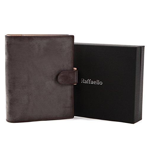 [ラファエロ]Raffaello一流の革職人が作るブライドルレザーで製作したシステム手帳2019年バイブルサイズ6穴本革