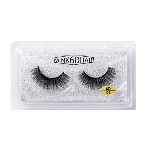 1 Paire 6D Cheveux Faux Cils 34mm Longs 6D Crossed Cils épais Extension Maquillage des Yeux Crossed Outils de beauté