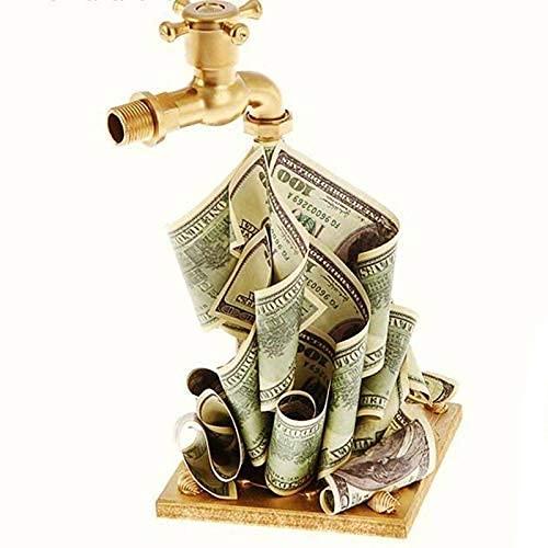 Grifo Creativo con esculturas de Billetes, estatuas de Grifo de Resina de Arte, Adorno de Personalidad para la decoración de Escritorio de la estantería de la Oficina en casa
