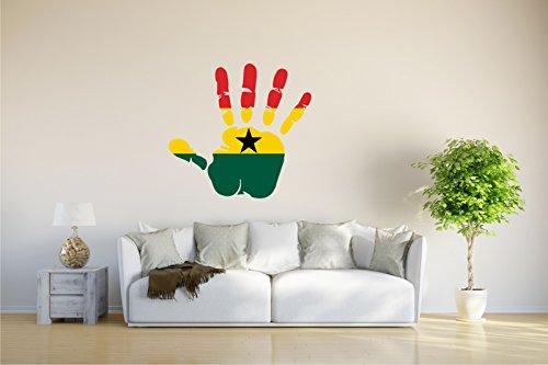 INDIGOS UG Wandtattoo - CH - Fahne in der Hand - Ghana - Ghana - 75x70 cm