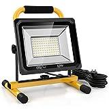Olafus 60W 6000LM Projecteur LED Chantier, 5000K Blanc Froid, Eclairage de Travail 220V, 2 Modes de Luminosité Réglables 60W/30W, Etanche IP65, Ultra Puissant pour Travaux, Bricolage etc