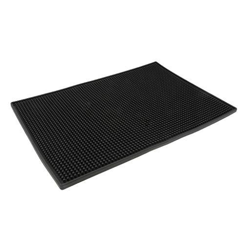 Homyl Schwarze Gummi Abtropfmatte Slim für die Spülablage, Schwarz - Black, 45x30x1cm
