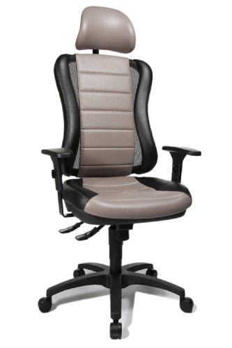 Topstar HE30PS103X Head Point RS SY Chaise de Bureau avec Têtière Gris/Noir 47 x 50 x 150 cm