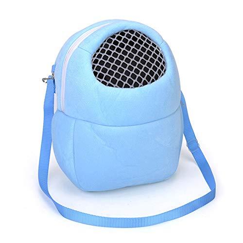 Ogquaton Transportbeutel für Haustiere Simples, klein und tragbar für Haustiere, Reisetaschen geeignet für Hamster Hasen (Blau)