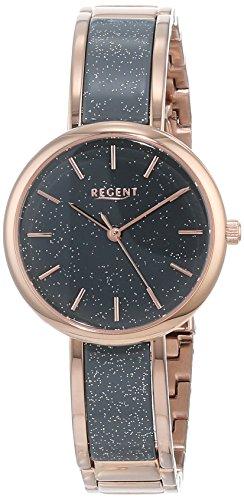 Regent Damen Analog Quarz Uhr mit Edelstahl Armband 12211025