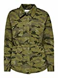 Only ONLALLY Life Utility Jacket CC OTW Anorak, Martini Olive/AOP:Camo, M para Mujer
