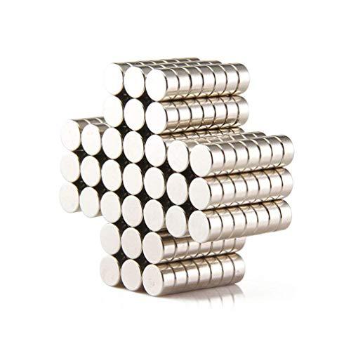 300PCS Fastener Decor Craft Miniature Holder Magnets for Hobbies,Crafts,Warhammer 40k Round Disc - 2mmx1mm