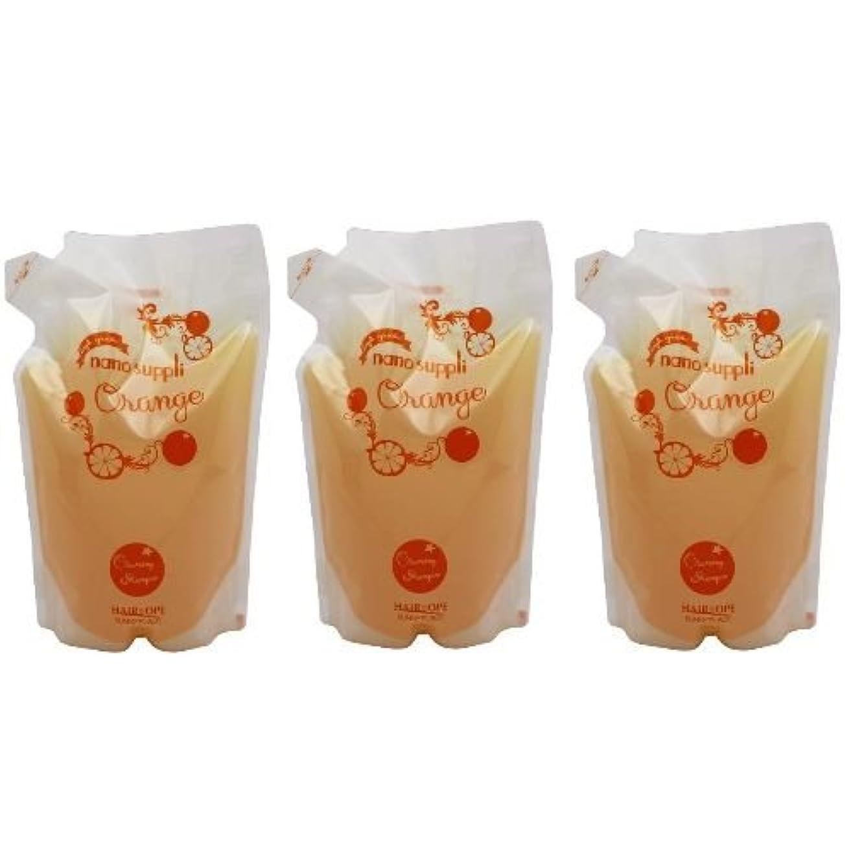 夜明けにリッチ資源【x3個セット】 サニープレイス ナノサプリ ヘアクレンジングシャンプー オレンジ 800ml (詰替用)