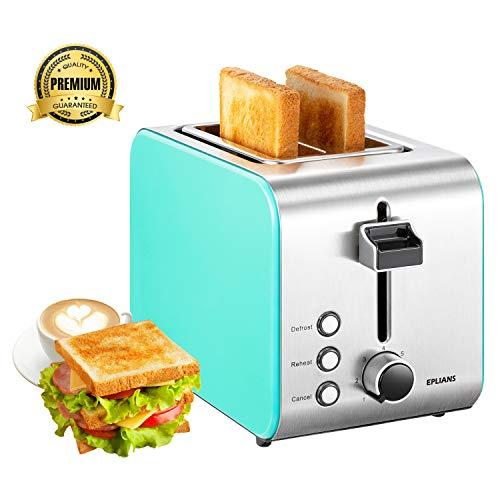 Toaster 2 Slice, EPLIANS 1.5 'Breitschlitz Toaster, 7 ...
