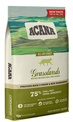 Acana Dry Cat Food Grasslands Chicken, Duck, Turkey, Fish, and Quail   Chewy
