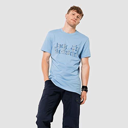 Jack Wolfskin Herren Logo Ocean T-Shirt, cool Water, XL