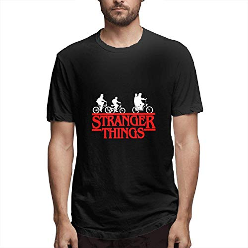 Z-Wolf Stranger Things Graphic Black T-Shirts Men's Print Sh