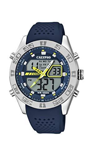 Calypso Watches Orologio Analogico-Digitale Quarzo Uomo con Cinturino in Plastica K5774/3