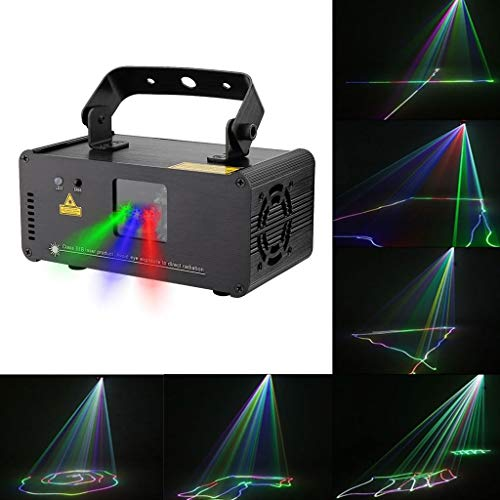 EGCLJ Multicolor podiumverlichting projector 3D-effect Disco Beam-koplamp, RGRB Ton Actived dans-party-disco-licht KTV Bar-Club