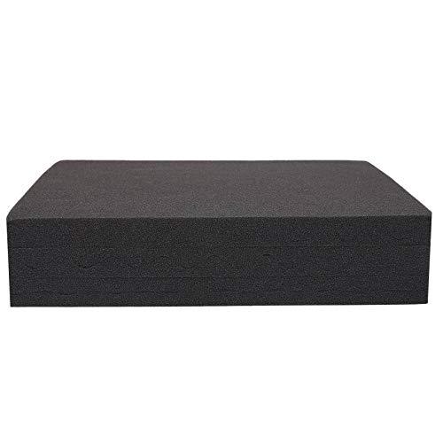 CKMSYUDG 6PCS Negro Acústica Cáscara De Huevo Espuma De Absorción De Sonido Panel De Tratamiento Azulejo 40X30cm