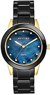 MESTIGE Womens Quartz Watch, Analog Display and Ceramic Strap MSWA3140