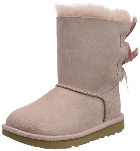 UGG Kid's Female Bailey Bow II Classic Boot, Pink Crystal, 11 (UK)
