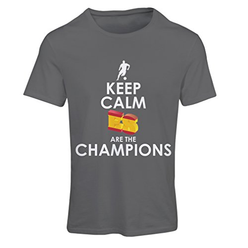 lepni.me Camiseta Mujer Españoles Son los campeones, Campeonato de Rusia 2018, Copa del Mundo - Equipo del fútbol de Camisa del admirador de España