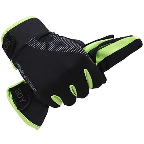 daimofs Full Finger Mountain Cycling Gloves, Anti-Shock Padded Bike Motorcycle Outdoor Sport Gloves for Men/Women