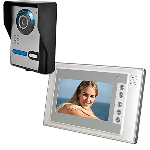 DNAMAZ Portero 7'Sistema de intercomunicación de la Puerta con Cable de 7' Video Doorphone Inicio Seguridad Cámara Monitor Monitor de la Oficina Inicio Video Video Visual Interphone automatico