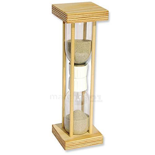 matches21 Sanduhr 5 Minuten Sand Uhr Holz Bausatz f. Kinder Werkset Bastelset Lernspiel ab 10 Jahren
