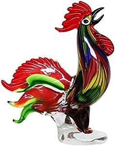 Figura de Cristal gallina Vidrio Gallo Estilo Antiguo Murano - 35cm