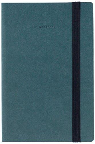 Bindungen mynot00Notizbuch, 12.5x 18cm 12.5 x 18 cm Petrolio