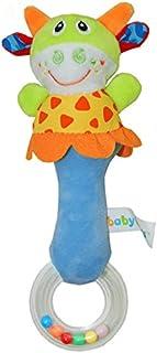 BeesClover Campana de Mano de Dibujo Animado Juguete de Niño Bebés Baby Kid Soft Cartoon Handbells Sonajero Juguete de Desarrollo Musical 22Cm Vaca