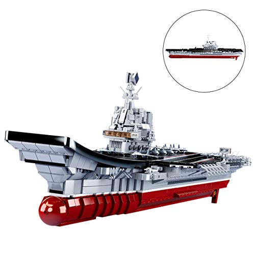 OLMME Kit de Construcción De Juguetes 2 en 1 Warship Building Blocks, Bloques de Construcción Grandes para Adultos/Niños Modelo 3D Ensamblado (1828 Piezas) Regalo de Juego de Juguete Educativo