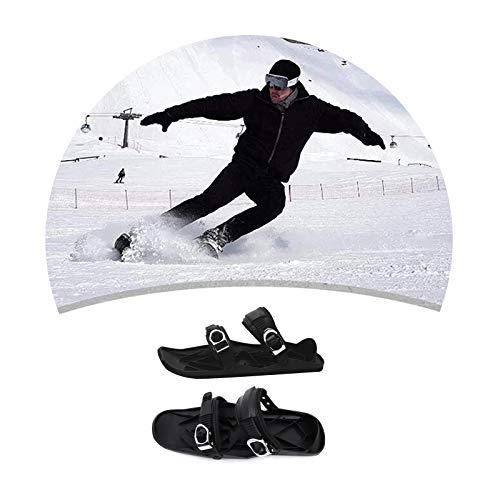 YYBF Mini Patines De Esquí para Nieve The Short Skiboard Snowblades, Mini Sled Snowboard Wall Sport Ski Boots