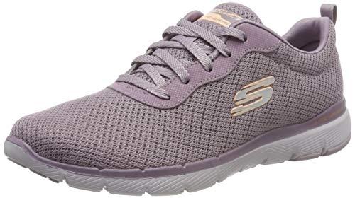 Skechers Damen Flex Appeal 3.0-First Insight Sneaker, Purple Mesh Purple Trim, 39 EU