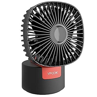 VPCOK Desk Fan 2 in 1 Portable Fan Table Fan Ha...