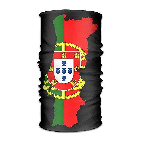 shenhaimojing Flag Map of Portugal Versatile Outdoors Daily Stylish Headwear Multifunctional Sport Headband Sweatband,Magic Scarf,Head Wrap,Neck Gaiter,Bandana,Helmet Liner, Balaclava,Tube Mask