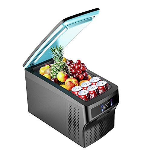 ZLININ Refrigerador de coche 26L AC DC12V24V portátil Camping Picnic RV Viajes al aire libre Compresor del hogar Refrigerador Mini Nevera Congelador profundo Caja enfriadora (Nombre del color: Negro)