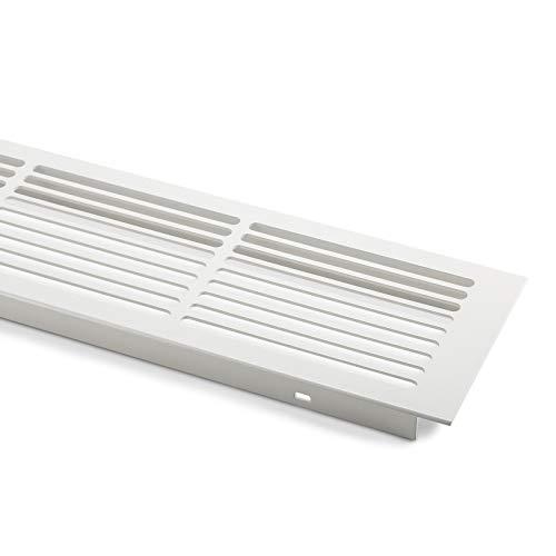 SO-TECH® Lüftungsgitter Aluminium 500 x 86 mm Stegblech Gitter weiß lackiert
