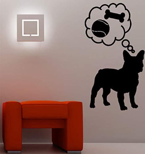 Adesivo murale 30.8 CM x 55 CM Divertente Frenchie French Bulldog Dog PVC Wall Sticker Decal per la decorazione domestica
