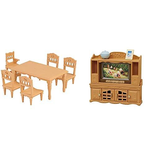 シルバニアファミリー 家具 ダイニングテーブルセット カ-421 & シルバニアファミリー 家具 テレビ・テレビ台セット カ-522【セット買い】