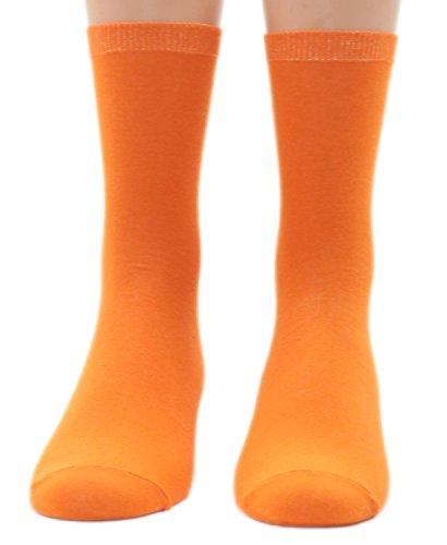 Shimasocks Kinder Socken uni 1 Paar, Farben alle:orange, Größe:27/30