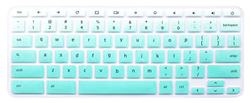 Keyboard Skin Compatible with Acer Chromebook Premium R11 11.6 CB5-132T CB3-132 CB3-131, Acer Chromebook R 13 CB5-312T, Acer Chromebook 14 CB3-431 CP5-471, Acer Chromebook 15 CB3-531 (Ombre Mint)