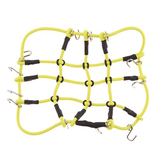 Toygogo Gepäckkorb Dachkorb Dachträger für 1/8 1/10 RC Car - Gelb, wie beschrieben