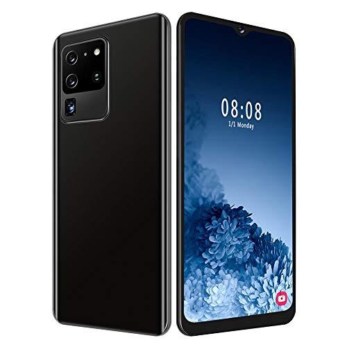 fasient1 S30U+ Desbloqueado Smartphone, 6.7in Cara/Huella Dactilar Desbloqueado Doble Tarjeta SIM Teléfono Celular para Android 9.1,4 + 64G, MTK6580P Quad Core, 8MP + 13MP Cámara Dual, Negro(EU)